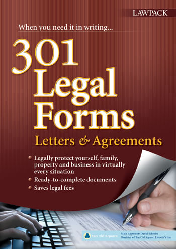 301 Legal Forms, Letters & Agreements Book and eBook