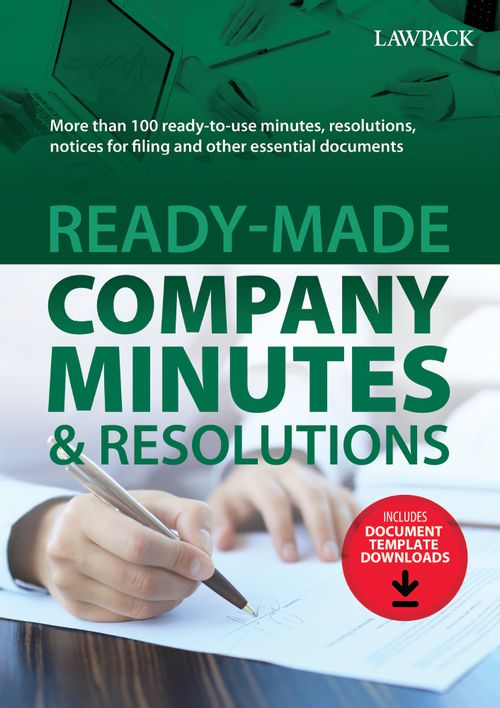 Ready-Made Company Minutes & Resolutions