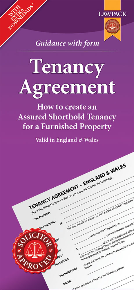 Tenancy Agreement - Furnished - Standard Pack
