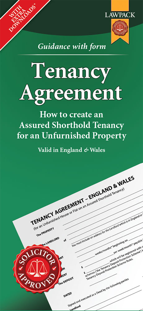 Tenancy Agreement - Unfurnished - Standard Pack