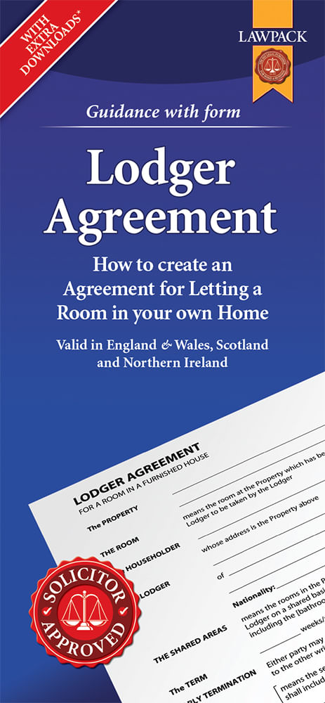 Lodger Agreement - Standard Pack