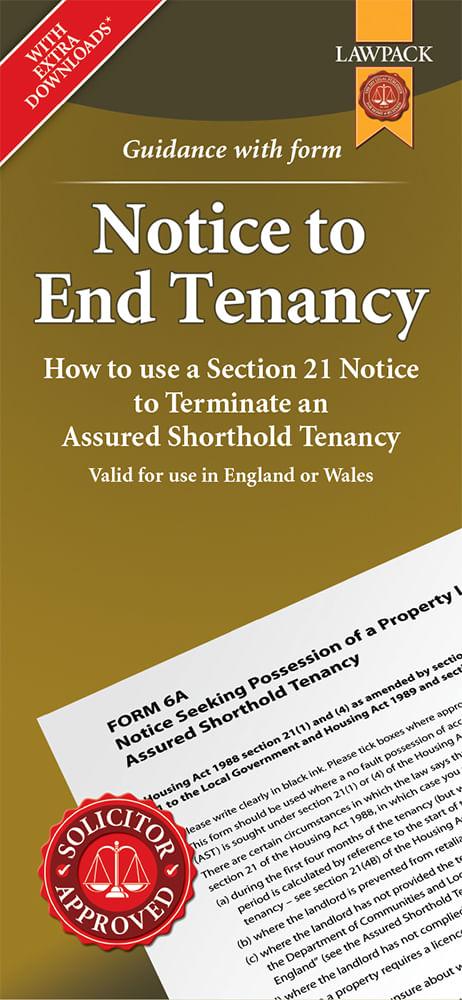 Notice to End Tenancy Standard Pack