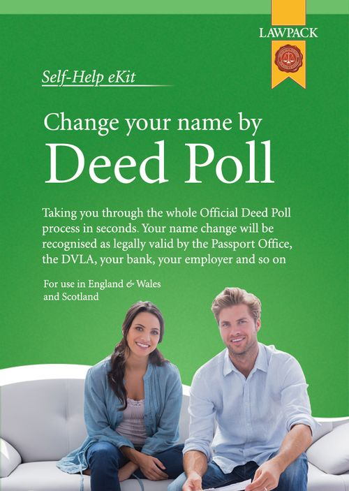 Change Your Name Officially By Deed Poll
