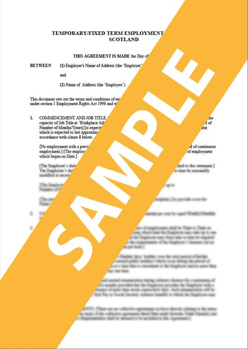 Employment Contract - Temporary/Fixed Term